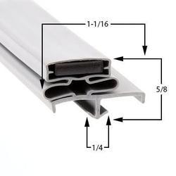 Beverage-Air Compatible SPE4812 Door Gasket Part# (703-519C)
