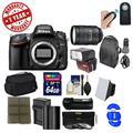 Nikon D610 Digital SLR Camera Body 28-300mm VR Lens 64GB Card Case Battery/Charger Tripod Grip Flash GPS Kit