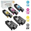 LD Compatible Replacements for Dell Color Laser C1660w Set of 5 Laser Toner Cartridges Includes: 2 332-0399 Black, 1 332-0400 Cyan, 1 332-0401 Magenta, and 1 332-0402 Yellow