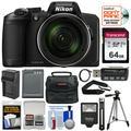 Nikon Coolpix B600 60x Wi-Fi Digital Camera with 64GB Card + Battery + Charger + Case + Flash + Tripod + Kit