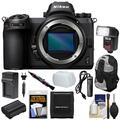 Nikon Z6 Mirrorless Digital Camera Body with Backpack + Flash + Battery + Charger + Kit