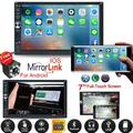 Vehicle Car Stereo Car Radio 7 Inch Touch Screen Double Din Car Audio Bluetooth MP5 Player with Reverse Camera And Mirror Link(Both Support IOS and Android System)