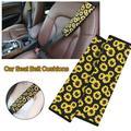 AUTCARIBLE Soft Comfort Car Seat Belt Pads Cover, Universal Car Seat Belt Shoulder Pads Strap Covers for Adults, Car Seat Belt Cushions, Sunflower
