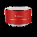 Vibes TAB - Metallic Portable Bluetooth Mini Wireless Speaker - IPX4 rated Water Resistant - HD voice ready - Light weight - Suspension Lighting Effect (Red)