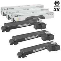 Compatible Replacements for Kyocera-Mita TK-897K 3PK Black Laser Toner Cartridges for use in Kyocera-Mita TASKalfa 205c, 255, 255c, FS-C8520MFP, and FS-C8525MFP s