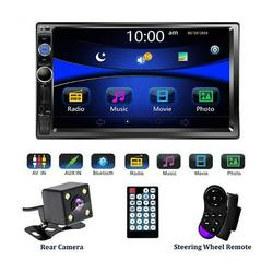AILSA 2 Din Car Stereo Radio 7 Inch HD LED Backlit Multimedia Touch Screen Car Video Player Bluetooth TF FM USB MP5/4/3 Player with Steering Wheel Control, Backup Rear View Camera, Mirror Link