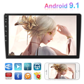 Double Din car radio Android 9.1 GPS Car Stereo Radio 10.1'' HD 1080P Car audio with Bluetooth WIFI GPS FM morrorlink,with 12LED Rear Camera