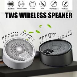 Portable Bluetooth 4.2 Playback Speaker Waterproof Stereo Music USB Charging Double Channel Speaker (Color: Silver, Black)