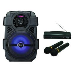 """QFX PBX-8 8"""" Rechargeable Bluetooth Party Speaker & M-336 Wireless Dynamic Microphone System"""