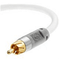 Mediabridge ULTRA Series Subwoofer Cable (8 Feet) - Dual Shielded with Gold Plated RCA to RCA Connectors - White - (Part# CJ08-6WR-G1 )