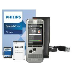 Philips Pocket Memo 6000 Digital Recorder, Push Button, 2GB, Silver