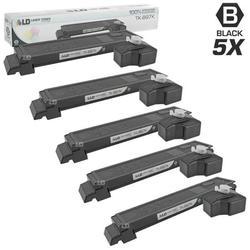 LD Compatible Replacements for Kyocera-Mita TK-897K 5PK Black Laser Toner Cartridges for use in Kyocera-Mita TASKalfa 205c, 255, 255c, FS-C8520MFP, and FS-C8525MFP s
