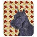 Schnauzer Giant Fall Leaves Portrait Mouse Pad, Hot Pad Or Trivet