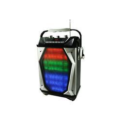 QFX PBX-10700 - Speaker - for PA system - wireless - Bluetooth - 2-way - black