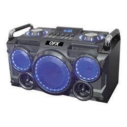QFX PBX-265 - Speaker - for PA system - wireless - Bluetooth - black