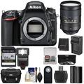 Nikon D750 Digital SLR Camera Body with 28-300mm VR Lens Kit, Battery and Charger, Flash, Camera Case and more