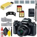 Canon PowerShot G1 X Mark III Digital Camera & 16GB MicroSD x2 & Canon Battery x3