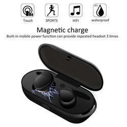 Bluetooth V4.1 Earbuds Sweatproof Mini True Bass Wireless Earphones In-Ear Twins Stereo Headsets Sport Headphones for iPhone 11/11 Pro XS XR X 8 7 6 ios Samsung Galaxy S10 S10E S9 S8 Note 10/9/8