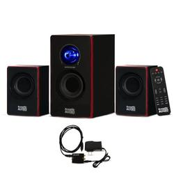 Acoustic Audio AA2103 Bluetooth Home 2.1 Speaker System with Optical Input for Multimedia