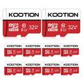 KOOTION 10 Pack 32 GB Micro SD Card TF Cards Micro SDHC UHS-I Memory Cards Class 10 High Speed Micro SD Cards, C10, U1
