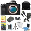 Sony Alpha a7S ILCE7S/B ILCE7S ILCE7SB Compact Interchangeable Lens Digital Camera Bundle with 64GB SDXC Card, Spare Battery, Rapid AC/DC Charger, HDMI Cable, Case, LCD Screen Protectors
