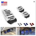 EIMELI 3 Pcs Nonslip Pedal Foot Brake Accelerator Cover Set for Car Auto Vehicle MT Aluminium For Manual Transmission Car