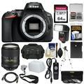 Nikon D5600 Wi-Fi Digital SLR Camera Body with 18-300mm VR Lens + 64GB Card + Case + Flash + Battery + Tripod + Kit