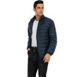 JANSION Men's Packable Down Jacket Puffer Jacket Winter Warm Down Zipper Packable Light Down Packable Light Down Jacket Coat