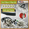 1x 3 Feet 16 Gauge 1/4 Mono to 1/4 Mono Speaker Cable DJ PA Audio Stereo Wire