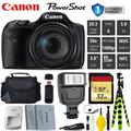 Canon HS Digital Point and Shoot Camera + Extra Battery + Digital Flash + Camera Case + 32GB Class 10 Memory Card + 1 Year Extended Warranty (Total of 2YR) - Intl Model