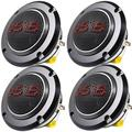 """""""4 Pack DS18 Super Bullet Tweeter 400 Watts Max 4 Ohm Neo Magnet PRO-TWN5 1.5"""""""" VC"""""""