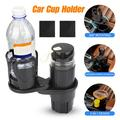 Car Cup Holder Expander, 2 in 1 Multifunctional Auto Drinks Holder, Double Cup Holder Extender Adapter Organizer with 360¡ã Rotating Adjustable Base to Hold Most Water Bottles KFC McDonald Coffee Cup
