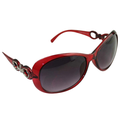 Women Oversized Round Frame Sunglasses Multiple Tinted Glitter Designer Inspired Stylish Shades