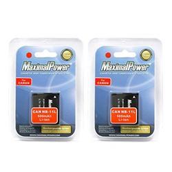 MaximalPower DB CAN NB11L x2, 2 Pack Battery (Black)