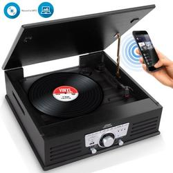 PyleHome Vintage Classic-Style Bluetooth Turntable Vinyl Record Player with USB/MP3 Computer Recording Ability