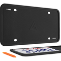 Aujen Silicone License Plate Frames, 1 Pack Car License Plate Cover, Universal US Car Black License Plate Bracket Holder.Rust-Proof, Rattle-Proof, Weather-Proof