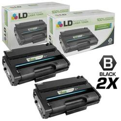 Remanufactured Replacements for Ricoh 406989 Set of 2 High Yie Black Laser Toner Cartridges for use in Ricoh Aficio SP 3500DN, 3500N, 3500SF, 3510DN, and 3510SF s