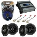 Compatible with Pontiac Vibe 2003-2008 Factory Speaker Replacement Kicker Bundle (2) DSC65 & Harmony HA-A400.4
