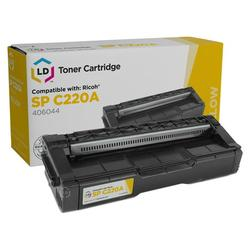 LD Compatible Replacement for Ricoh 406044 (406105) Yellow Laser Toner Cartridge for use in Ricoh Aficio SP C220A, C220DN, C220N, C220S, C221N, C221SF, C222DN, C222SF, and C240SF s