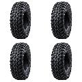 (4 Pack) Tusk Terrabite® Radial Tire 27x11-12 Medium/Hard Terrain - Fits: TEXTRON WILDCAT TRAIL 700 2018-2019