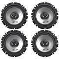 """(2) pairs alpine sxe-1725s 6.5"""" 40 watt rms 4 ohm 2-way coaxial car audio speakers"""