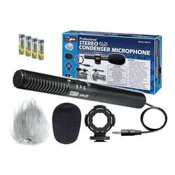 Sony FDR-AX33 Camcorder External Microphone Vidpro XM-CS Condenser Stereo XY Microphone Kit for DSLRs, video camcorders and audio recorders - With a Pack of 4 AA NiMH Rechargable Batteries - 2800mAh