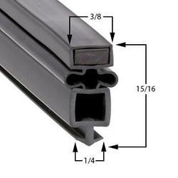 True Compatible TG3R3S Door Gasket Part# (810772)