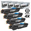 Compatible Replacements for Konica-Minolta 1710567-001 Set of 4 Black Laser Toner Cartridges