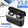 KWANSHOP 3500mAh Mini Wireless Earbuds Bluetooth 5.0 Earpiece Headphone - Noise Cancelling Sweatproof Headset with Microphone Built-in Mic and Portable Charging Case for iPhone Samsung Smartphones