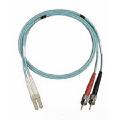 Allen Tel Products GBLCT-D4-05 LC/ST 10G MM DPLX AQUA 5M