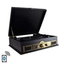 Retro Vintage Classic Style BT Turntable Vinyl Record Player with Recording Ability, AM/FM Radio