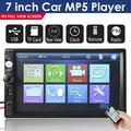 Double Din Car Radio,7 inch Touch Screen Bluetooth Stereo,2 DIN Car Radio Stereo,MP5 Car Stereo player,Car Stereo DVD Player Support Bluetooth/USB/AUX/FM/TF,Bluetooth Touch Screen Car HD Stereo