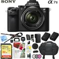 Sony Alpha a7II Mirrorless Camera with 28-70mm F3.5-5.6 OSS Lens Bundle with 32GB Memory Card, Camera Bag for DSLR, Camera Battery, Battery Charger, Paintshop Pro 2018 and 40.5mm Filter Kit