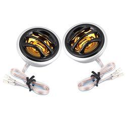 LYUMO 2Pcs 12V 130W Car Mini Super Power Loud Dome Stereo Speaker Tweeter Loudspeaker Horn , Car Tweeter, Dome Car Tweeter